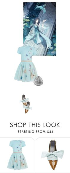 """Manga and Anime influence fashion"" by sharmarie ❤ liked on Polyvore featuring Monsoon, From St Xavier, dress, shoes, anime, handbag and manga"