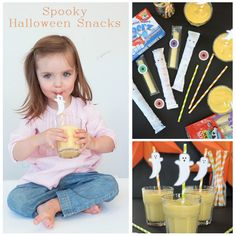 Turn Horizon snacks into deliciously spooky ghosts and mummies for ⚰☠Halloween! Get the tricks from Halloween Snacks For Kids, Spooky Halloween, Halloween Ideas, Spooky Food, Ghosts, Meal, Fun, Scary Halloween, Food