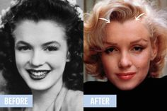 Marilyn Monroe was also notorious for undergoing electrolysis, removing her widow's peak to change her face shape. The less painful, modern day equivalent? Stars (the Kardashians in particular) are making their hairlines look more bold and precise by filling them in with eyeshadow.