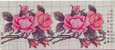 patrones flores en punto de cruz Easy Cross Stitch Patterns, Simple Cross Stitch, Cross Stitch Rose, Cross Stitch Flowers, Cross Stitch Charts, Cross Stitch Embroidery, Chart Design, Needlepoint, Needlework