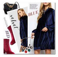 """velvet"" by svijetlana ❤ liked on Polyvore featuring dress, velvet and polyvoreeditorial"