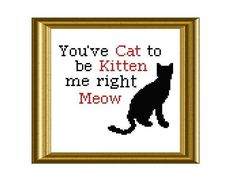 Funny Cat Quote ... by Beki710   Embroidery Pattern - Looking for your next project? You're going to love Funny Cat Quote Cross Stitch by designer Beki710. - via @Craftsy