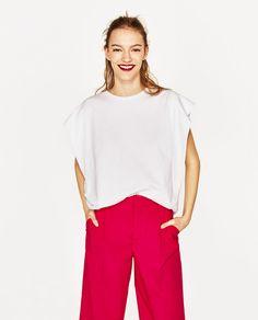 Image 3 of CROPPED POPLIN TROUSERS from Zara