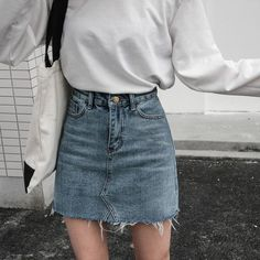 8a0624f48 High Waisted Jean Skirts, Denim Skirts, White Denim Skirt, Denim Pencil  Skirt,