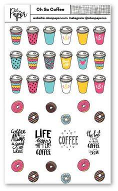 Oh So Coffee Planner Sticker Set
