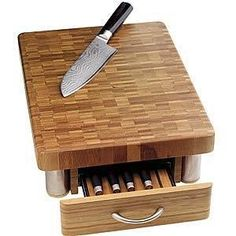 Exceptionnel The Coolest Cutting Boards: Bamboo Knife Block