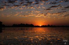 Mein schönstes Foto der Fotoparade zeigt einen Sonnenuntergang im Okavangodelta.