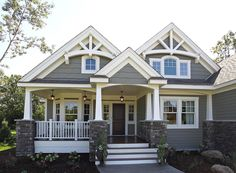Best Ideas house exterior design dream homes craftsman style Future House, My House, House Bath, House Front, Ideal House, Awesome House, House With Porch, Design Exterior, Exterior House Colors