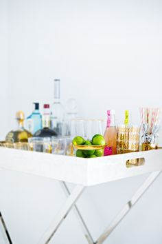 How to style a bar cart without even having a bar cart