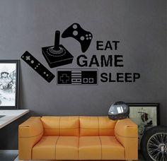kik2548 Wall Decal Sticker joystick controller Xbox 360 Game PS4 player bedroom teens