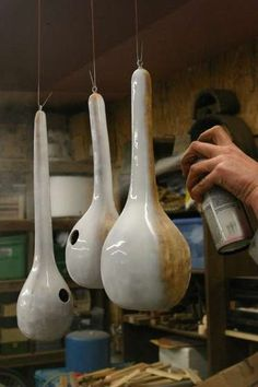 Gourd Birdhouse DIY-Some more instructions and ideas. -All-weather paint (We used white spray paint)