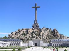 The monument at Valle de los Caidos (Valley of the Fallen) outside Madrid, Spain. The cross is about the same height as the Washington Monument.