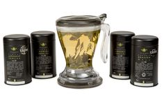 Green Tea & Magic Infuser Gift Set A luxurious collection of four sublime green teas from Japan and China together with a Magic Tea Infuser. An ideal gift for a green tea lover. Tea Gift Sets, Tea Gifts, Japanese Taste, Green Teas, Tea Infuser, Loose Leaf Tea, Coffee Maker, China, Magic