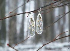 МК эпоксидная смола и сухоцветы - создание прозрачных украшений без молдов - Ярмарка Мастеров - ручная работа, handmade