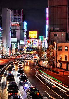 Tokyo, Shinjuku Japan, YO TAMBIEN SOY DE CIUDAD Y AMO EL MOVIMIENTO DE LA CIUDAD, POR ESO ME GUSTA ESTA POSTAL DE JAPON.