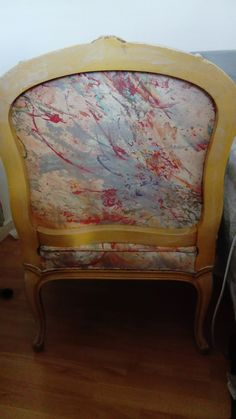 Back of chair, French easy chair