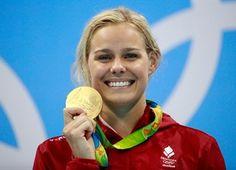 Medal - Blume, Pernille - Swimming - Denmark - Women's 50m Freestyle - Women's 50m Freestyle Final - Olympic Aquatics Stadium