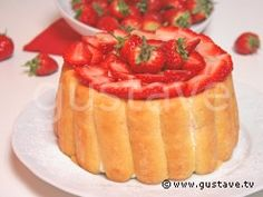 Charlotte aux fraises légère