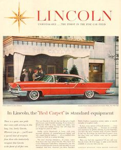 Lincoln Premier Landau Carlyle Hotel NY 1957 - Mad Men Art: The 1891-1970 Vintage Advertisement Art Collection