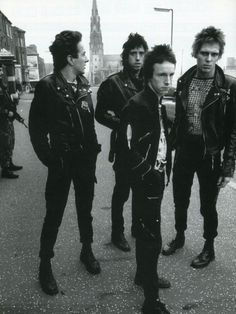 Joe Strummer, Paul Simonon, Mick Jones and Nicky 'Topper' Headon, The Clash on the Springfield Road near the Henry Taggart police and Army base in west Belfast in Music Love, Rock Music, My Music, Beatles, Rock And Roll, Clash On, The Clash Band, Les Aliens, Paul Simonon