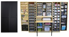 The Original ScrapBox™ Black Beadboard WorkBox 2.0! Accented with our new black totes!