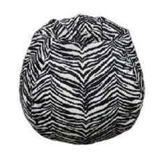 Zebra Animal Print Faux Suede Bean Bag-Zebra Animal Print Faux Suede Bean Bag Pear-shaped design offers back support or rounded appearance as needed. Complies with voluntary CPSC guidelines for zipper closures.