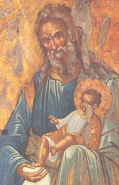Simeon the High Priest with the Christ Child Byzantine Icons, Byzantine Art, Religious Icons, Religious Art, Jesus Christ Images, Orthodox Icons, Dark Ages, Christianity, San Simeon