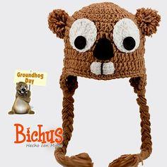Bichus Amigurumis: Día de la Marmota - Gorro Amigurumi