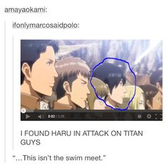 Free Iwatobi Swim Club in Attack on Titan?! hmmmm