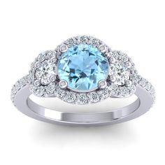 Aquamarine halo rings can be just magical, right?!