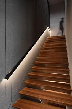 Residence Design With A Warm And Natural Ambiance | Axial Studio - The Architects Diary Staircase Handrail, Stairs, Staircase Ideas, Staircases, Photo Studio, Modern Architecture, Facade, Warm, Interior Design