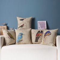 Creative aquarelle rose amour oreiller coussin rouge for Coussins decoratifs pour canape