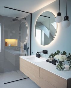 Countertops for bathrooms and toilets - Home Fashion Trend Bathroom Design Luxury, Modern Bathroom Design, Bathroom Renos, Small Bathroom, Modern Interior, Home Interior Design, Bathroom Design Inspiration, Interior Inspiration, Bad Inspiration