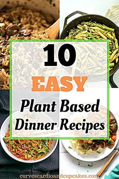 Tasty vegan meals perfect for a vegetarian diet, Meatless Monday ideas, weeknights or Sunday dinner. Simple easy starch based suppers the family will love. Diet 10 Delicious Plant Based Diet Dinner Recipes - Curves Cardio And Cupcakes Plant Based Diet Meals, Plant Based Meal Planning, Plant Based Whole Foods, Plant Based Eating, Plant Diet, Diet Dinner Recipes, Vegetarian Dinners, Whole Food Recipes, Diet Recipes