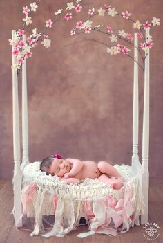 Spring Baby – Newborn Photoshoot - Newborn Photography - Infant Picture Ideas - Black and White