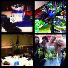My wedding. #centerpieces #candybuffet #flowers