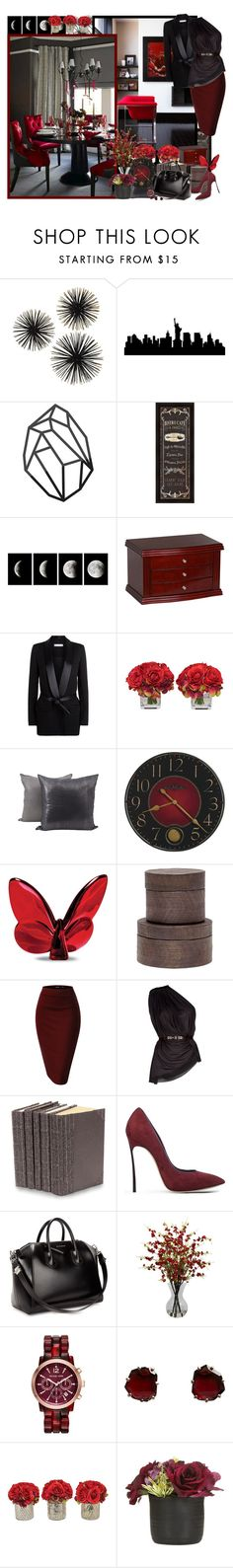 """Classic chic..."" by asia-12 ❤ liked on Polyvore featuring IRO, Jayson Home, Baccarat, Pigeon & Poodle, La Petite S*****, Decorative Leather Books, Casadei, Givenchy, Nearly Natural and Michael Kors"