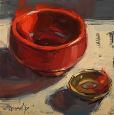 "Daily Paintworks - ""Auspicious Bowls"" - Original Fine Art for Sale - © Cathleen Rehfeld"