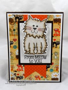 Stamping & Scrapping in California: More Kitty2stamp #thestampsoflife #sizzix step up die