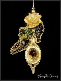 Victorian Christmas Ornament Victorian Shoe by SilverOwlStudio