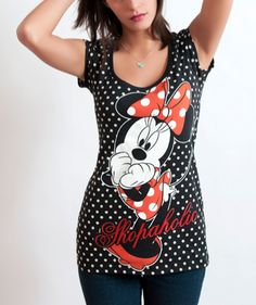 Minnie Mouse  Polka Dots  Casual  Fashion  T Shirt