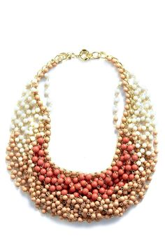 ModCloth Statement of the Art Necklace in Blush