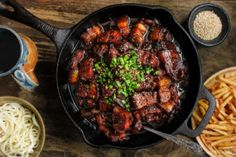Sweet and sticky, this melt in your mouth beer braised pork belly is simple to make and incredibly flavourful.