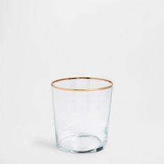 GOLD EDGE GLASS TUMBLER