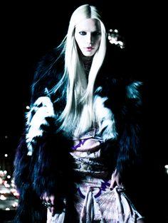 Sister Of The Night | Aline Weber | Victor Demarchelier #photography | Wonderland Magazine September/October 2012
