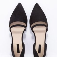"""⭐️HP!⭐️ SOLD OUT ONLINE- CUTOUT FAUX SUEDE FLATS ⭐️11/13 GIRLY GIRL PART HOST PICK!⭐️ STYLE DETAILS: BRAND NEW - never worn pair of faux suede D'orsay flats with a cutout vamp and pointed toe. Padded insole, textured outsole Upper: 100% polyester; Lining & Insole: 100% polyurethane; Outsole 1: 100% SBR; Outsole 2: 60% rayon, 40% cotton Made in China FIT DETAILS: Approx 0.25"""" heel height, 2.5"""" shaft height Forever 21 Shoes Flats & Loafers"""