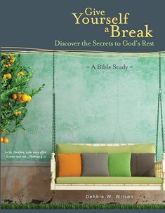"Debbie W. Wilson  ""Give Yourself a Break: Discover the Secrets to God's Rest"" http://www.amazon.com/gp/product/1508719314?ref_=sr_1_1&s=books&qid=1429019280&sr=1-1&keywords=give%20yourself%20a%20break&pldnSite=1 http://debbiewwilson.com/ https://twitter.com/debbiewwilson https://www.facebook.com/pages/Debbie-W-Wilson/1550329398571406 http://plan2winai.blogspot.com/2015/07/author-debbie-w-wilson.html"