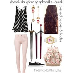 """""""chanel- daughter of aphrodite- quest"""" by daughterofaphrodite on Polyvore"""