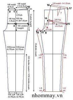 How to draft a pants pattern Patron pantalon bebe enfant Dress Sewing Patterns, Sewing Patterns Free, Clothing Patterns, Sewing Tutorials, Pattern Drafting Tutorials, Free Tutorials, Skirt Patterns, Coat Patterns, Blouse Patterns