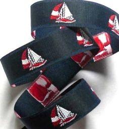 Turquoise Blue Vintage Woven Ribbon 2 yds x 1 18  Navy Blue Jacquard Ribbon